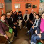 Inter parochial group at Cafe Mayapan and Mujer Obrera